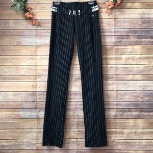 Lululemon belt it out pin stripe pants size 4 tall